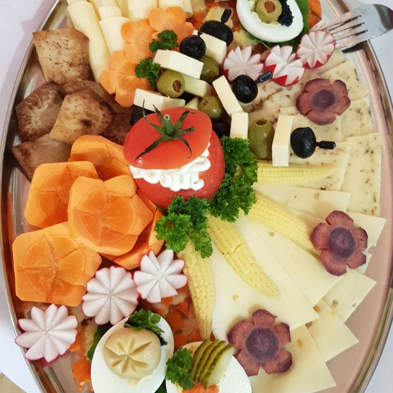 Vegetarische Platte Schlank